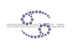 SZ002-04 - hot-fix kamínkový potisk znamení zvěrokruhu Rak (22. 6.-22. 7.), rozměry cca 4,3x4,0cm