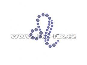 SZ002-05 - hot-fix kamínkový potisk znamení zvěrokruhu Lev (23. 7.-22. 8.), rozměry cca 3,7x4,4cm