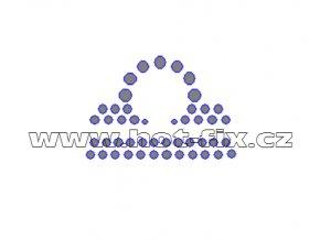 SZ002-07 - hot-fix kamínkový potisk znamení zvěrokruhu Váhy (23. 9.-23.10.), rozměry cca 4,7x3,3cm