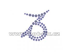 SZ002-10 - hot-fix kamínkový potisk znamení zvěrokruhu Kozoroh (22.12.-20. 1.), rozměry cca 4,6x5,1cm