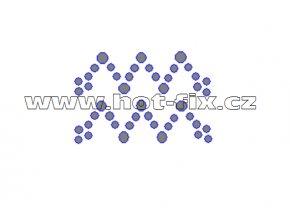 SZ002-11 - hot-fix kamínkový potisk znamení zvěrokruhu Vodnář (21. 1.-20. 2.), rozměry cca 4,9x3,3cm