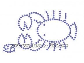 SZ003-04 - znamení zvěrokruhu Rak (22. 6.-22. 7.) hot-fix kamínkový potisk, rozměry cca 13,3x7,7cm