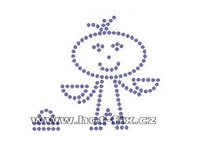 SZ003-07 - znamení zvěrokruhu Váhy (23. 9.-23.10.) hot-fix kamínkový potisk, rozměry cca 10,5x9,4cm