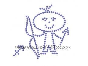 SZ003-09 - znamení zvěrokruhu Střelec (23.11.-21.12.) hot-fix kamínkový potisk, rozměry cca 10,4x10,2cm