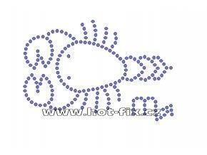 SZ003-08 - znamení zvěrokruhu Štír (24.10.-22.11.) hot-fix kamínkový potisk, rozměry cca 13,0x8,8cm