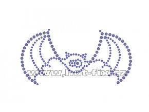 SP006-A - hot-fix nažehlovací kamínkový potisk netopýr, rozměry cca 11,4x5,8cm