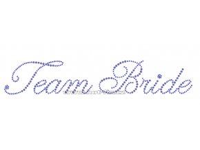 SVAT015-A - Team Bride nažehlovací kamínkový potisk pro družičky a kamarádky nevěsty, rozm. cca 27,8x5,0cm