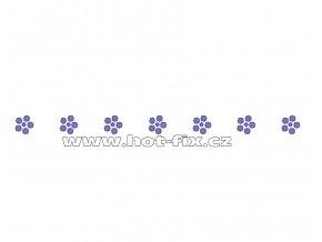 OP008 - kytičky zažehlovací ozdobný pásek na textil hot-fix kamínky, rozměry cca 25,5x0,9cm