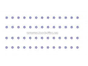 OP008-sada 4ks - kytičky zažehlovací ozdobný pásek na textil za zvýhodněnou cenu