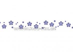 OP010 - kytičky zažehlovací ozdobný pásek na textil hot-fix kamínky, rozměry cca 29,6x1,7cm