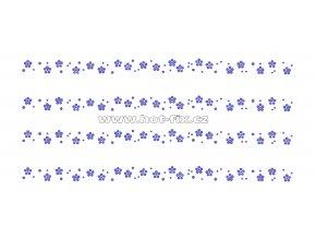OP010-sada 4ks - kytičky zažehlovací ozdobný pásek na textil za zvýhodněnou cenu