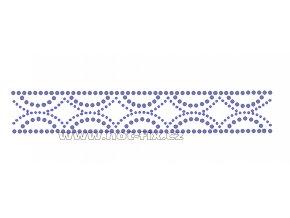 OP011 - ozdobný pás nažehlovací hot-fix kamínková aplikace, rozměry cca 19,3x3,2cm
