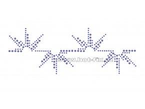 OP013 - kamínkový nažehlovací potisk na textil, rozměry cca 20,0x7,5cm