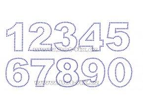 FC001 - číslice nažehlovací kamínkový potisk na textil, výška cca 6,5cm