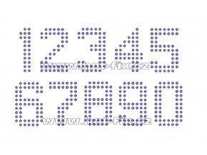 FC003-SS10 - číslice nažehlovací kamínkový potisk na textil, výška cca 4,9cm