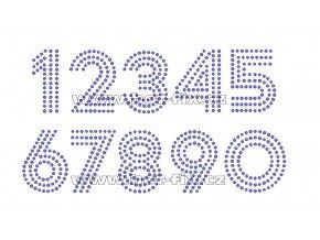 FC004-SS10 - číslice nažehlovací hot-fix kamínková aplikace na textil, výška cca 5,9cm