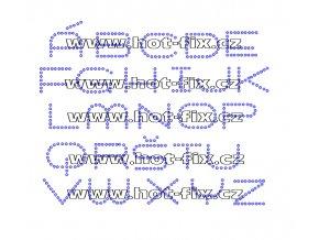 F006 - nažehlovací kamínkový potisk na textil písmena abecedy, výška cca 2,9cm