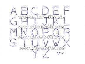 F001-SS 6 - nažehlovací kamínkový potisk na textil písmena abecedy, výška cca 2,4cm