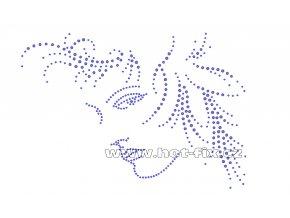S004 - hlava hot-fix nažehlovací kamínková aplikace, rozměry cca 23,3x17,0cm