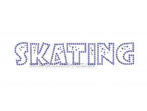 C019 - Skating nažehlovací hot-fix kamínková aplikace na textil, rozměry cca 22,0x4,4cm