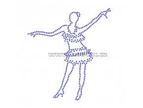 C121 - tanečnice nažehlovací potisk na textil z hot-fix kamenů, rozměry cca 12,4x13,7cm