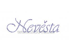 SVAT051 - nevěsta nažehlovací hot-fix kamínková aplikace, rozměry cca 17,3x4,8cm