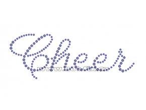 C106 - cheer hot-fix nažehlovací potisk na textil, rozměry cca 19,2x7,0cm