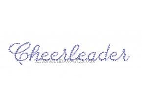 C107 - cheerleader hot-fix nažehlovací kamínkový potisk na textil, rozměry cca 22,0x9,2cm
