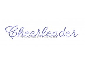 C107 - cheerleader hot-fix nažehlovací kamínkový potisk na textil, rozměry cca 22,4x4,2cm