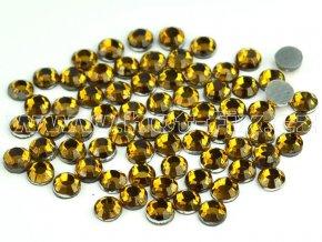 sada skleněných hot-fix kamenů 109 Topaz 4x144ks