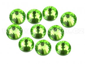 hot-fix celobroušené kameny Premium barva CBP/113 Peridot /světle zelená, sada 4x144ks