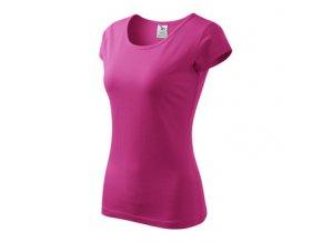 FT122 dámské tričko krátší rukáv, 100% bavlna, gramáž 150g/m2, barva růžová purpur