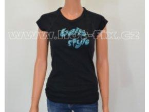 TDA02-113 dámské tričko se skleněnými hot-fix kamínky vzor BELLA STYLE