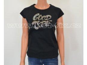 TDA04-113 dámské tričko s hot-fix kamínkovým potiskem GOOD TYPE
