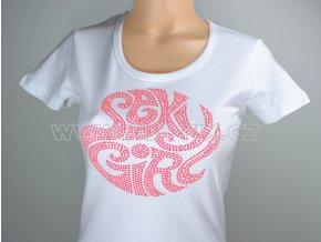 TDA11-31 tričko s hot-fix kamínkovým potiskem SEXY GIRLS