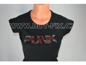 TDA18-113 tričko s hot-fix kamínkovou aplikací PUNK