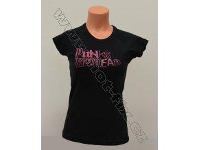 TDA19-113 tričko s hot-fix kamínkovým potiskem PUNKS NOT DEAD