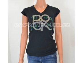TDA07-114V dámské tričko s kamínkovým potiskem ROCK