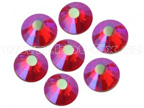 hot-fix celobroušené kameny Premium barva CBP/503 AB Siam /červená s duhovým efektem, sada 4x144ks
