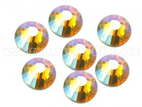 hot-fix celobroušené kameny Premium barva CBP/509 AB Topaz s duhovým efektem, sada 4x144ks