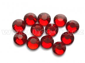 celobroušené hot-fix kameny Premium barva 102 Siam tmavý, velikost SS16, balení 144ks, 720ks nebo 1440ks