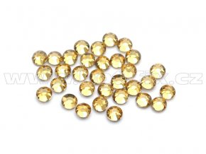 celobroušené hot-fix kameny Premium barva 110 Lt. Colorado Topaz, velikost SS 6, balení 144ks, 720ks nebo 1440ks