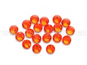 celobroušené hot-fix kameny Premium barva 104 Orange, velikost SS10, balení 144ks, 720ks nebo 1440ks
