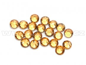 celobroušené hot-fix kameny Premium barva 110 Lt. Colorado Topaz, velikost SS10, balení 144ks, 720ks nebo 1440ks