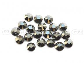 celobroušené hot-fix kameny Premium barva 125 Jet hematite, velikost SS10, balení 144ks, 720ks nebo 1440ks