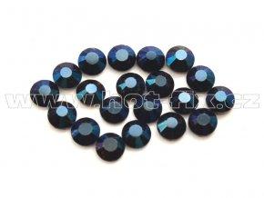 celobroušené hot-fix kameny Premium barva 130 Blue hematite, velikost SS10, balení 144ks, 720ks nebo 1440ks