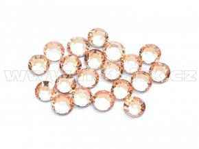 celobroušené hot-fix kameny Premium barva 190 Lt. Peach, velikost SS10, balení 144ks, 720ks nebo 1440ks