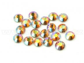 celobroušené hot-fix kameny Premium barva 509 AB Topaz, velikost SS10, balení 144ks, 720ks nebo 1440ks