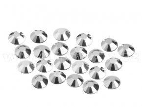 CBP 310 Silver Hematite velikost SS10 hot fix kameny na textil celobroušené Premium2