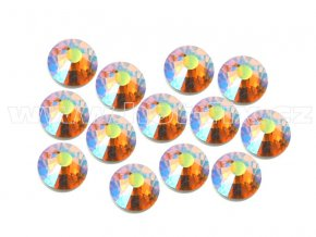 celobroušené hot-fix kameny Premium barva 509 AB Topaz, velikost SS16, balení 144ks, 720ks nebo 1440ks